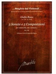 Ruvo, Giulio de: 10 Composizioni per violoncello con e senza Bc, partitura e parti (partitua non realizzato)