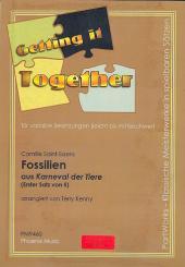Saint-Saëns, Camille: Fossilien aus Karneval der Tiere für variable Besetzung ( leicht bis mittelschwer ), Partitur und Stimmen