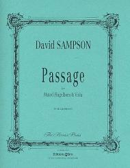Sampson, David: Passage for muted flugelhorn and viola, 2 playing score