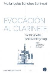 Sanchez Benimeli, Mariangeles: Evocación al clarinete für Klarinette und Schlagzeug, Partitur
