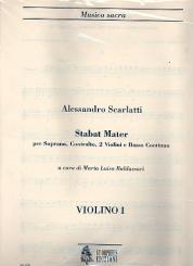 Scarlatti, Alessandro: Stabat mater per soprano, contralto 2 violini e bc, set of parts (2-2-0-1-1)
