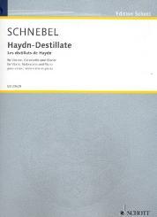 Schnebel, Dieter: Haydn-Destillate für Violine, Violoncello und Klavier, Stimmen