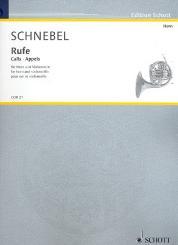 Schnebel, Dieter: Rufe für Horn und Violoncello 2Spielpartituren