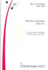 Schonthal, Ruth E.: Piccolo Concerto für Flöte, Posaune, Klavier, Partitur
