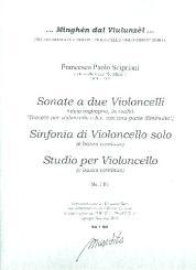 Scipriani, Francesco (Supriano): Sonate, Sinfonia e Studio für 1-2 Violoncelli und Bc, Partitur und Stimmen (Bc nicht ausgesetzt)
