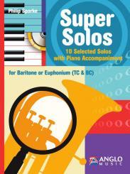 Sparke, Philip: Super Solos (+CD) for baritone (euphonium) and piano, (treble clef and bass clef)