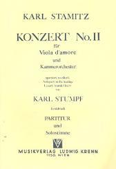 Stamitz, Karl: Konzert Nr.2 für Viola d'amore und Kammerorchester, Partitur und Solostimme
