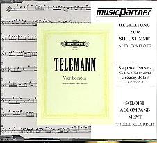 Telemann, Georg Philipp: 4 Sonaten für Altblockflöte und bc CD mit der Begleitung zur Soloflöte
