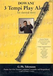 Telemann, Georg Philipp: Partita e-Moll Nr.5 (+CD) für Sopranblockflöte und Cembalo