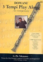 Telemann, Georg Philipp: Partita G-Dur Nr.2 (+CD) für Sopranblockflöte und Cembalo