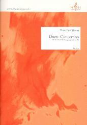 Thoma, Xaver Paul: Duett-Concertino op.189 für Violine und Schlagzeug, Partitur und Stimmen