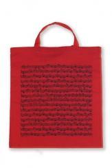 Tragetasche Notenblatt rot 38 x 40 cm 38x40cm + Henkel, (Verpackungseinheit 5 Stück)