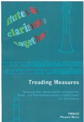 Treading Measures für Flöten und Klarinetten (4-stimmiges Ensemble), Partitur und Stimmen