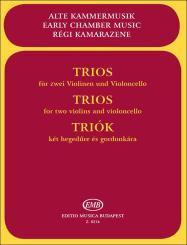 Trios für 2 Violinen und Violoncello, Partitur und 3 Stimmen