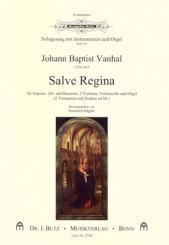 Vanhal, Johann Baptist (Krtitel): Salve regina für Soli, 2 Violinen, Violoncello und Orgel (2 Trompeten und Pauken ad, Partitur und Instrumentalstimmen