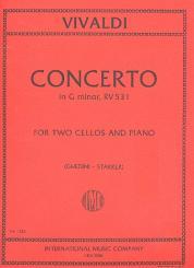 Vivaldi, Antonio: Concerto in g Minor FIII:2 (P411) for 2 cellos and piano
