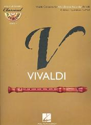 Vivaldi, Antonio: Konzert a-Moll für Altblockflöte und Streicher für Altblockflöte (+CD)