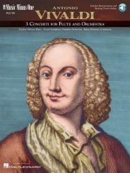 Vivaldi, Antonio: Music minus one flute (+online audio): flute concertos d major, g major, and f major