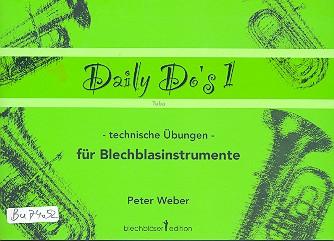Weber, Peter: Daily Do's Band 1 für Tuba