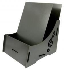 Werkhaus Notendisplay anthrazit, mit Notenschlüssel