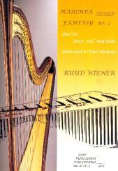 Wiener, Ruud: Fantasie No.1 for marimba and Harp, score and parts