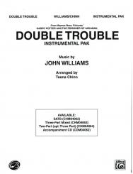 Williams, John *1932: Double Trouble for mixed chorusses (SATB, 2-part) accompanied, CD