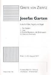 Zieritz, Grete von: Josefas Garten für Flöte, Fagott und Orgel, Stimmen
