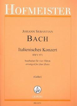 Bach, Johann Sebastian: Italienisches Konzert BWV971 für 4 Flöten, Partitur und Stimmen