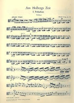 Grieg, Edvard Hagerup: Aus Holbergs Zeit op.40 für Streichorchester, 018