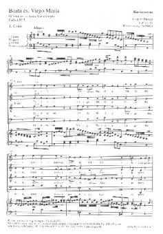 Mozart, Leopold: Beata es virgo Maria für Solo, gem Chor und Orchester, Klavierauszug