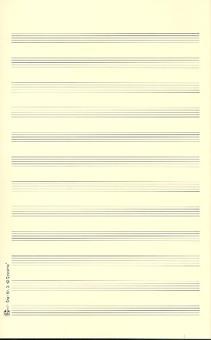 Notenpapier Oktav-Format hoch 12 Systeme 17x27 cm (5 Bögen)