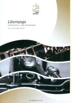 Piazzolla, Astor: Libertango für 4 Klarinetten (Ensemble), Partitur und Stimmen